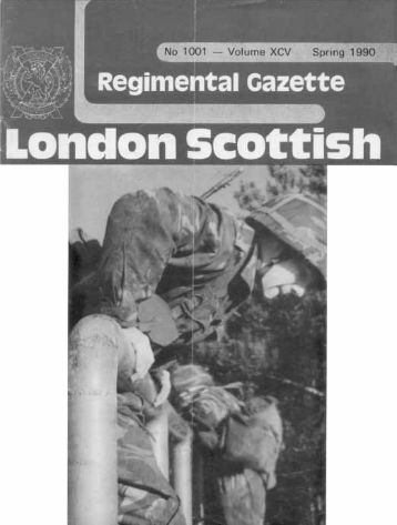 London Scottish Regimental Gazette - G (London Scottish)