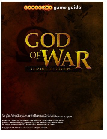 God of War: Chains of Olympus Game Guide - Walmart