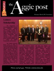 Newsletter - asnmsu - New Mexico State University