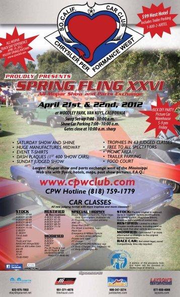 Spring Fling Flyer - Chrysler Performance West