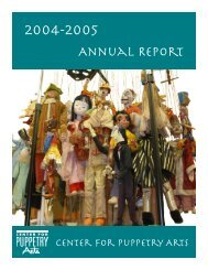 Annual Report - Center for Puppetry Arts