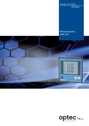 Netzanalysator UMG 507 - Optec AG