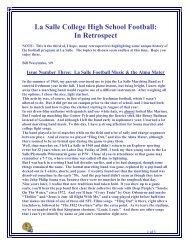 LS Football Music & The Alma Mater - La Salle College High School