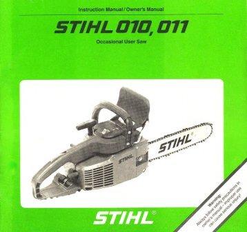 010, 011 - Stihl