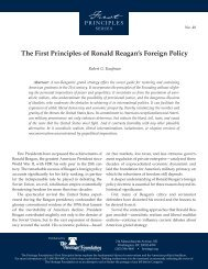 The First Principles of Ronald Reagan's Foreign Policy