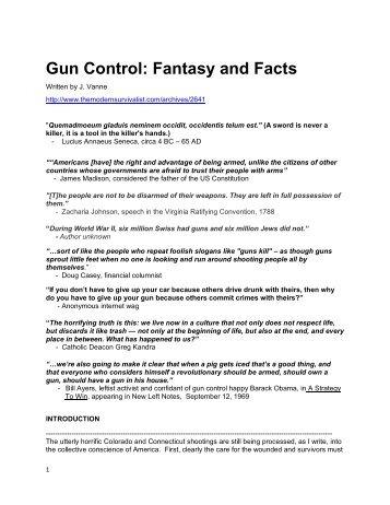 GUN CONTROL PERSUASIVE ESSAY