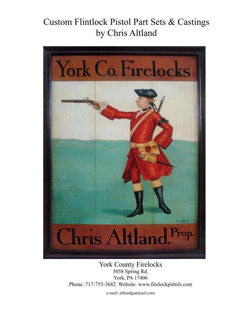 Custom Flintlock Pistol Part Sets & Castings by Chris Altland