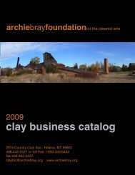 clay business catalog - Archie Bray Foundation for the Ceramic Arts