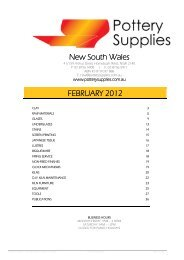 Pottery Supplies Offer… - NSW Pottery Supplies