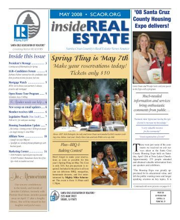 Spring Fling is May 7th - Santa Cruz Association of Realtors