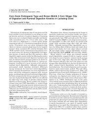Corn Grain Endosperm Type and Brown Midrib 3 Corn ... - Pioneer