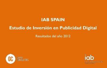 IAB SPAIN Estudio de Inversión en Publicidad Digital