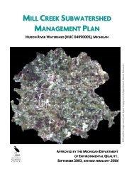 mill creek subwatershed management plan - State of Michigan