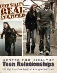 2012 Love What's Real High School Poems - Idaho Coalition ...