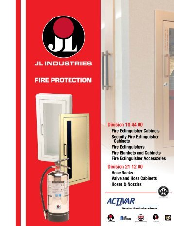 Fire Protection Catalog for JL Industries Division of the Activar ...