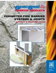 perimeter fire barrier systems & joints product ... - Ncs-stl.com