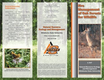 Fire Management of Oak Forests for Wildlife - Oklahoma State ...