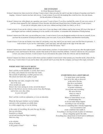 Invitation Oriah Mountain Dreamer Images Invitation Sample And