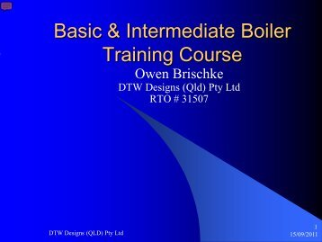 Basic & Intermediate Boiler Training Course - DTW Designs