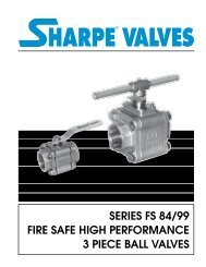 Series Fs 84/99 Fire Safe High Performance - Sharpe® Valves