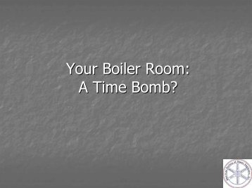 Your Boiler Room: A Time Bomb? - American Society of Power ...
