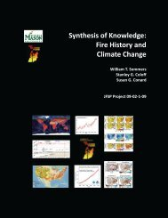 Synthesis of Knowledge: Fire History and Climate Change