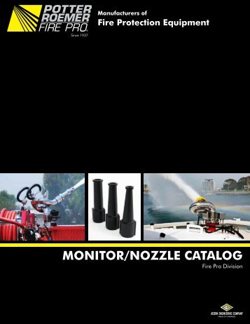 MONITOR/NOZZLE CATALOG - Potter Roemer