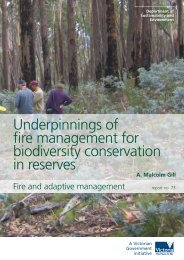 Underpinnings of fire management for biodiversity conservation in ...