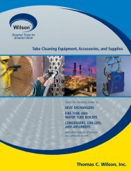 Tube Cleaning Equipment, Accessories ... - Thomas C. Wilson
