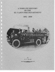 Timeline of El Cajon Fire Department 1892-2000 - City of El Cajon