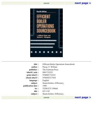 BOILER OPERATION EFFICIENCY Insights and Tips - Lattner Boiler ...