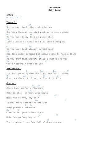 Katy Perry Firework Lyrics Do You Ever Feel Like A Plastic Bag
