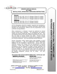 OWNERS SERVICE MANUAL - Amerex Fire - Amerex Corporation