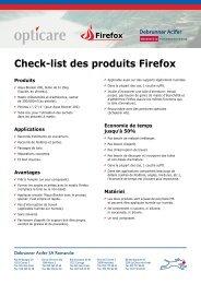 Check-list des produits Firefox - opticare ag, Firefox, Gelterkinden