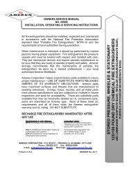 Manual for 125-150 lb Stored Pressure - Amerex Corporation