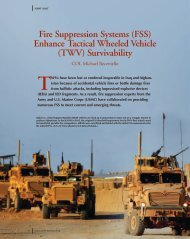Fire Suppression Systems (FSS) Enhance Tactical Wheeled Vehicle ...