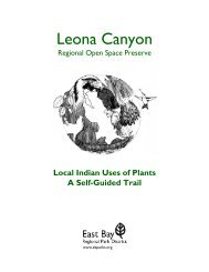 Leona Canyon - East Bay Regional Park District