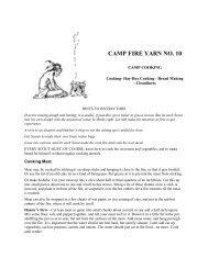 CAMP FIRE YARN NO. 10 - The Dump