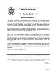 Fire Marshal Bulletin – 13 WORKER VISIBILITY - State of Michigan