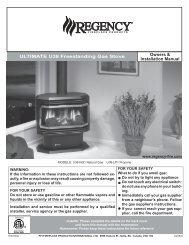 ULTIMATE U38 Freestanding Gas Stove Owners & Installation Manual