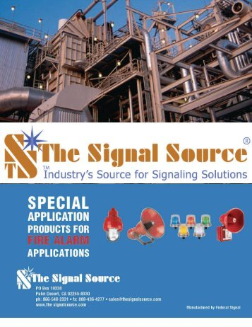 Fire Alarm and Special Hazard Signaling, our specialty - The Signal ...