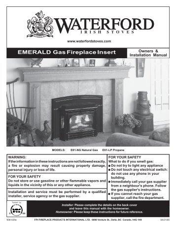 EMERALD Gas Fireplace Insert - Regency Fireplace Products