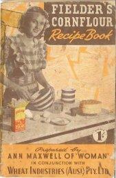 Fielder's Cornflour Recipe Book
