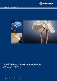 Produktkatalog – Kompressionsstrümpfe gültig ab ... - Bauerfeind AG