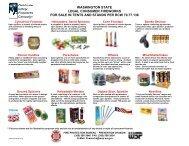 Fireworks Stand List - the Washington State Patrol
