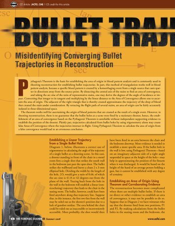 Misidentifying Bullet Trajectories in Reconstruction - Forensics in the ...