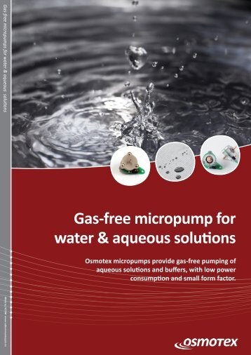 Gas-free micropump for water & aqueous solutions - Osmotex