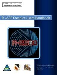 R-2508 Complex Users Handbook - Edwards Air Force Base