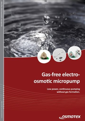 Gas-free electro- osmotic micropump - Osmotex