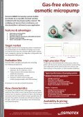 Gas-free electro- osmotic micropump - Osmotex - Page 2